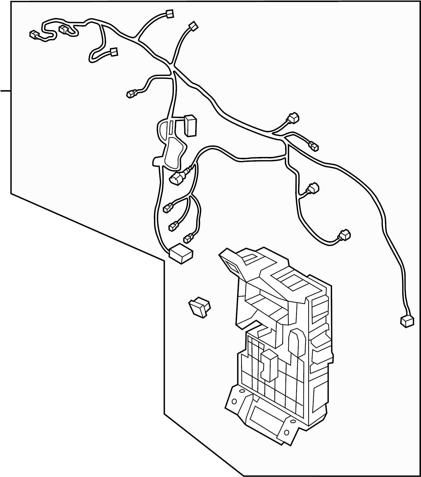 Hyundai Accent WIRING HARNESS. engine compartment