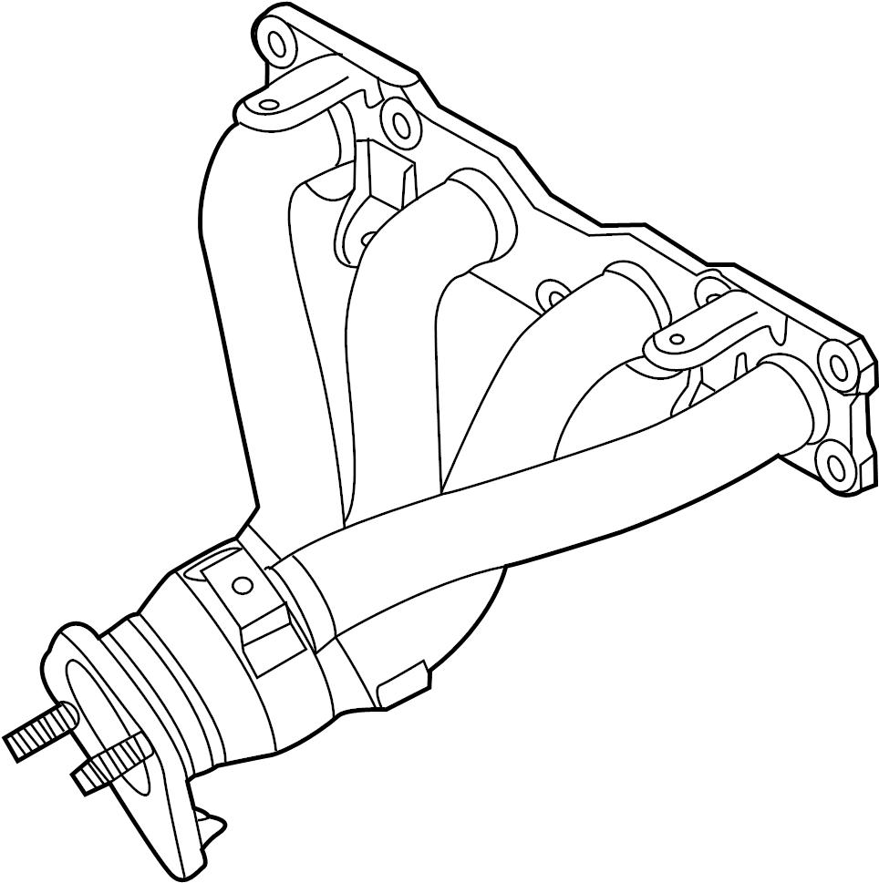 2015 Hyundai Elantra GT Catalytic Converter with
