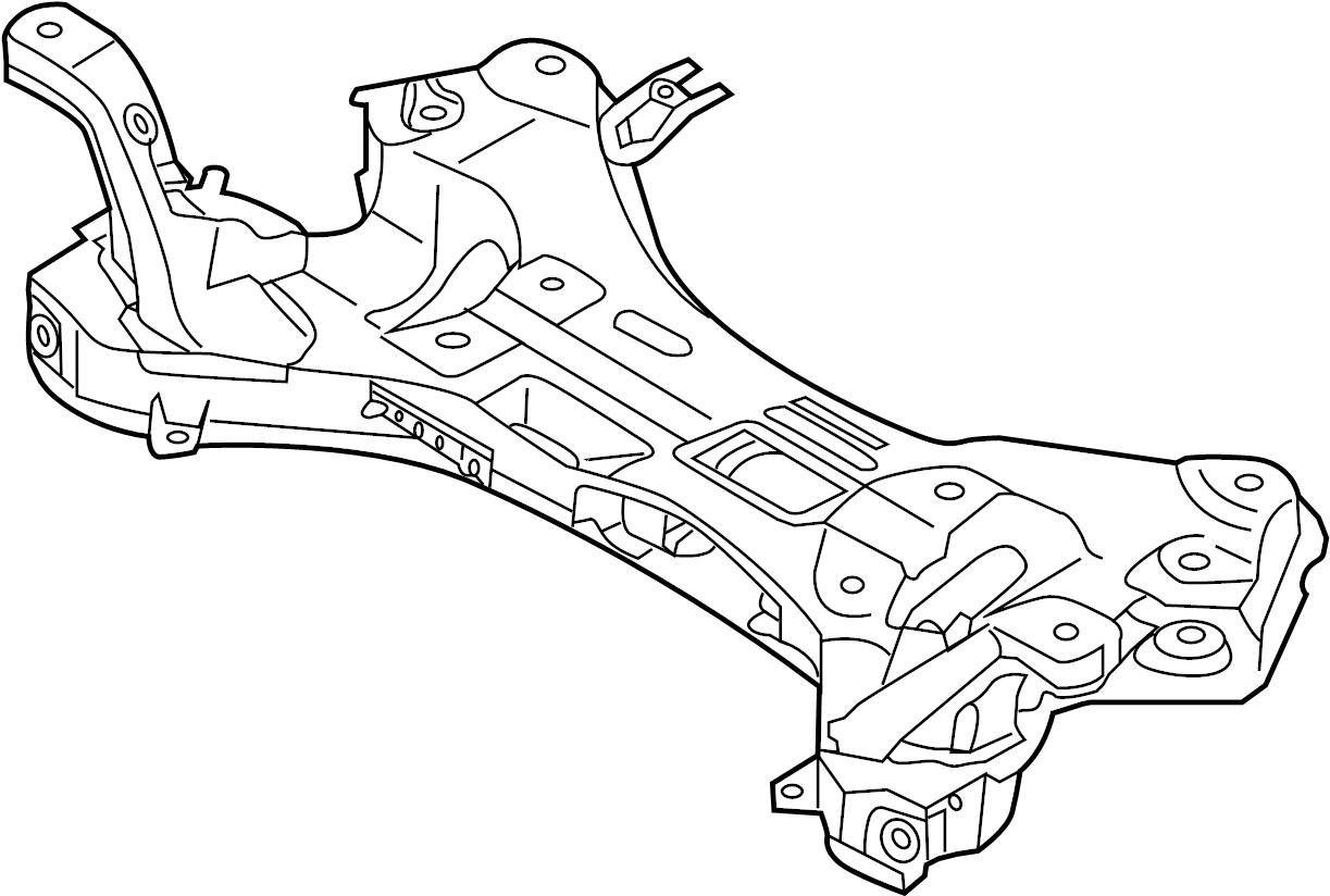 2012 Hyundai VELOSTER Crossmember complete. Cradle