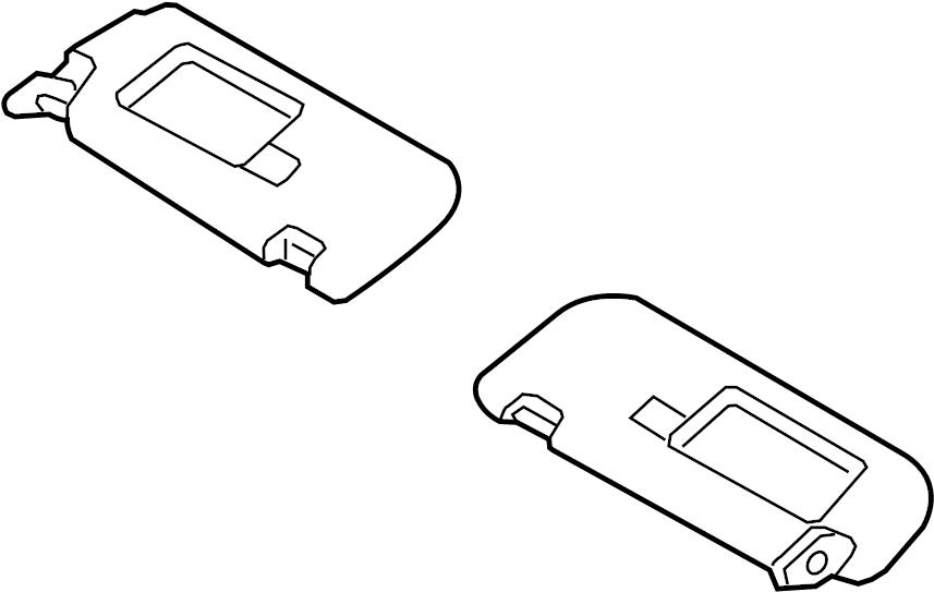 Hyundai Elantra GT Sun visor. Sunvisor assembly, left hand
