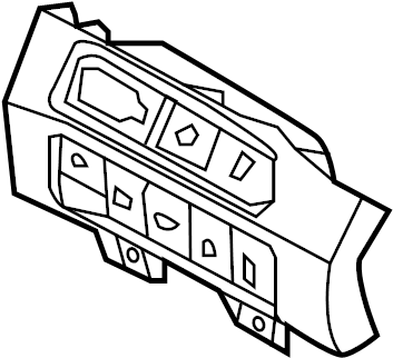 2013 Hyundai Santa Fe Instrument light rheostat. Switch