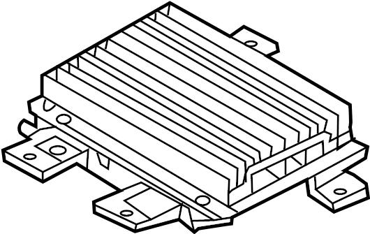 Hyundai Santa Fe Amplifier assembly. Radio amplifier. W/o