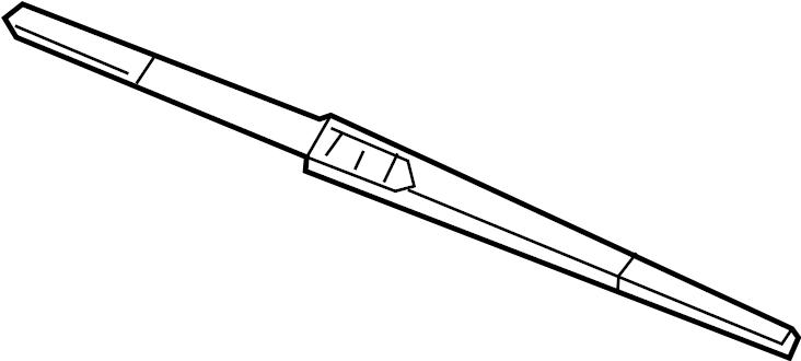 2014 Hyundai Santa Fe Back Glass Wiper Blade. REAR BLADE