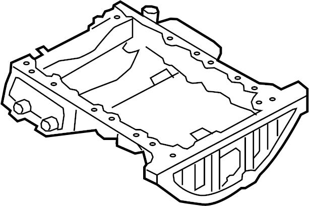 2014 Hyundai Genesis Coupe Engine Oil Pan (Upper