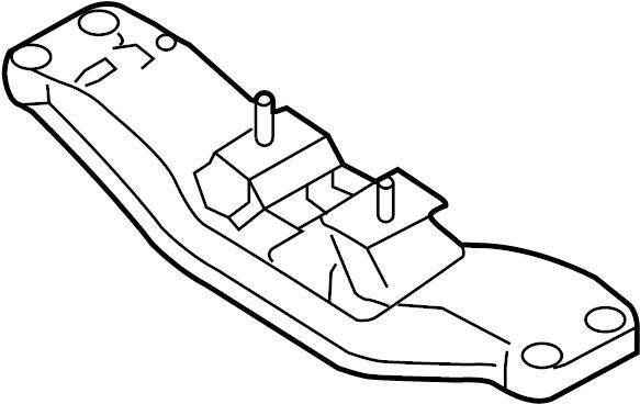 Hyundai Genesis Coupe Automatic Transmission Mount (Rear