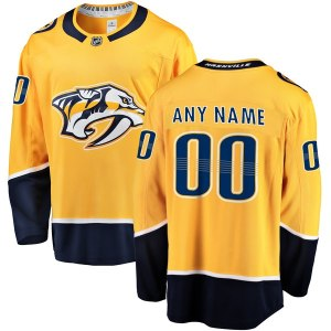 Men's Nashville Predators Fanatics Branded Gold Home Breakaway Custom Jersey