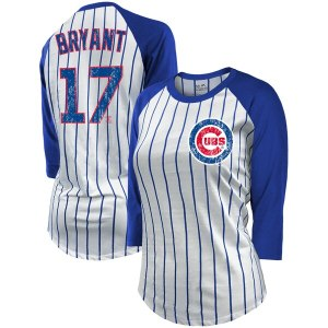 Women's Chicago Cubs Kris Bryant Majestic Threads  cheap Indians jersey women