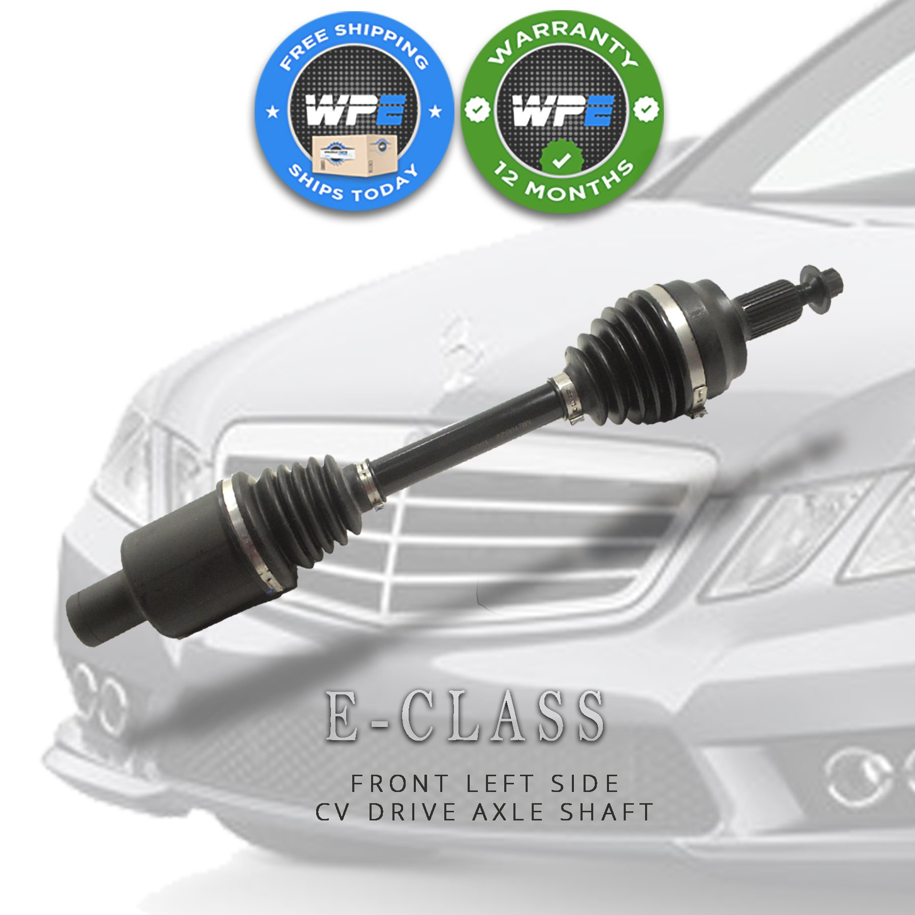 2013 - 2017 Mercedes E Class Coupe *NEW* Front Left CV Drive Axle Shaft  Assembly E350 E400 (Part Number 2043301300) - Wholesale Parts Express
