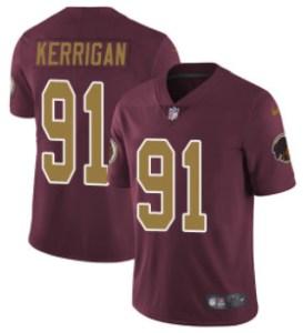 Nike Redskins #91 Ryan Kerrigan Burgundy Red Alternate Men's Stitched NFL Vapor Untouchable Limited Jersey