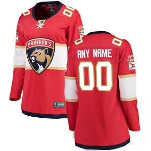 Women's Florida Panthers Fanatics Branded Red Home Breakaway Custom Jersey