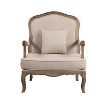 French Provincial Oak Single Armchair Sofa Arm Chair