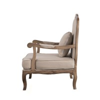 French Provincial Oak Single Armchair Sofa Arm Chair ...