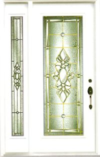 Stained Glass Door Inserts and Wrought Iron Door inserts