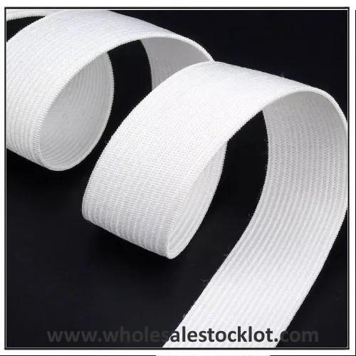 White Polyester Elastic Band Inventory Wholesaler