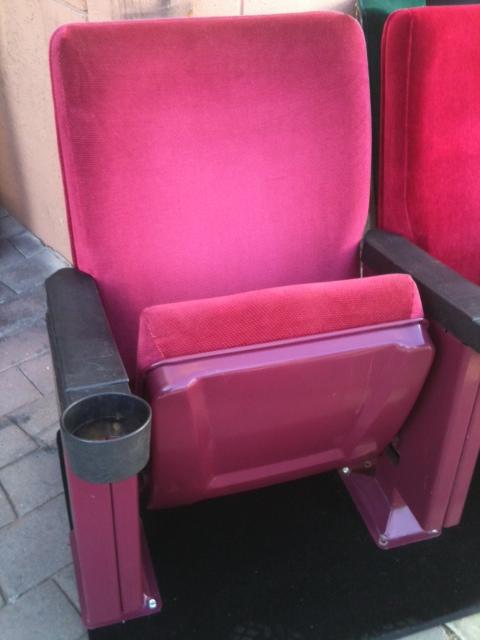 Wholesale Theater Seating Margarita Red Rocker used