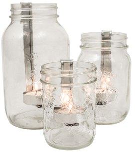 Mason Jar Candleholders