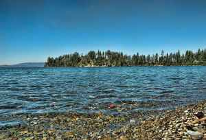 Shore of Flathead Lake in northwestern Montana
