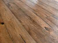 Distressed wood floor