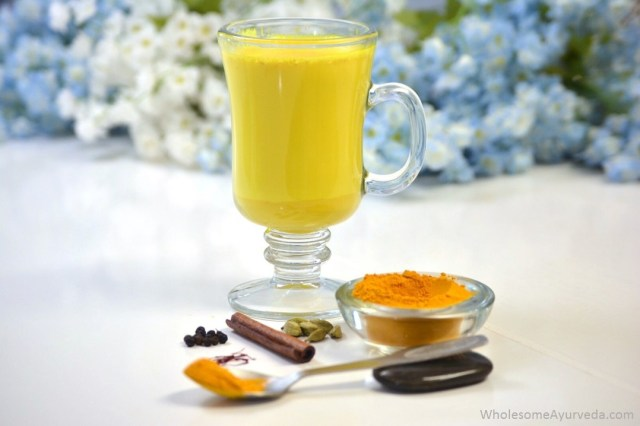 Turmeric Latte / Turmeric Milk Ayurvedic recipe. Medicinal Properties and Importance of Spices and Ingredients used. Black Pepper, Cardamom, Cinnamon, Honey