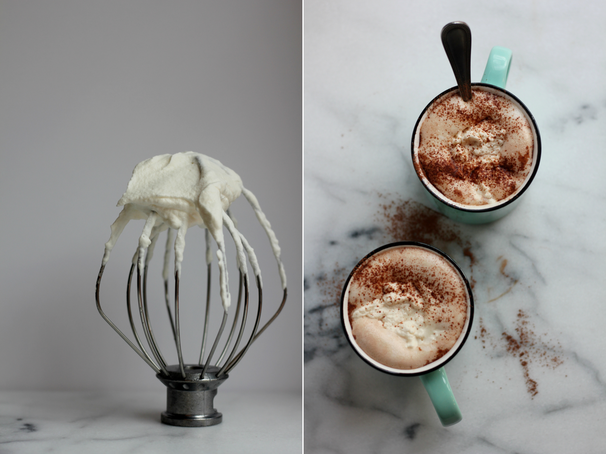 Make-Ahead Whipped Cream + Hot Chocolate | wholesomefamilykitchen.com