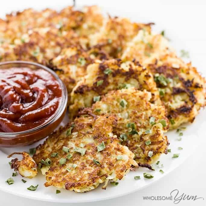 Keto Cauliflower Hash Browns