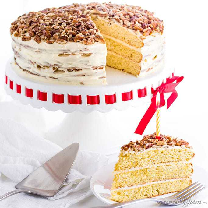 Vanilla Gluten Free Keto Birthday Cake Recipe Sugar Free Video