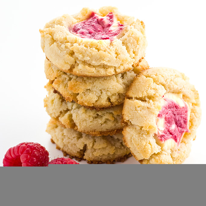 Keto Raspberry Cheesecake Cookies