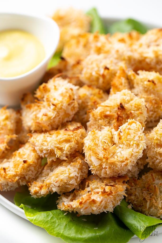 Keto Baked Coconut Shrimp