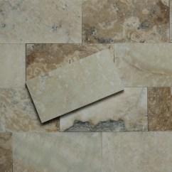 Travertine Kitchen Backsplash Cart Island 3 X 6 Subway Tile Autumn Onyx Honed