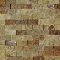 1 X 2 Split Face Mosaic Tile Scabos Travertine Honed