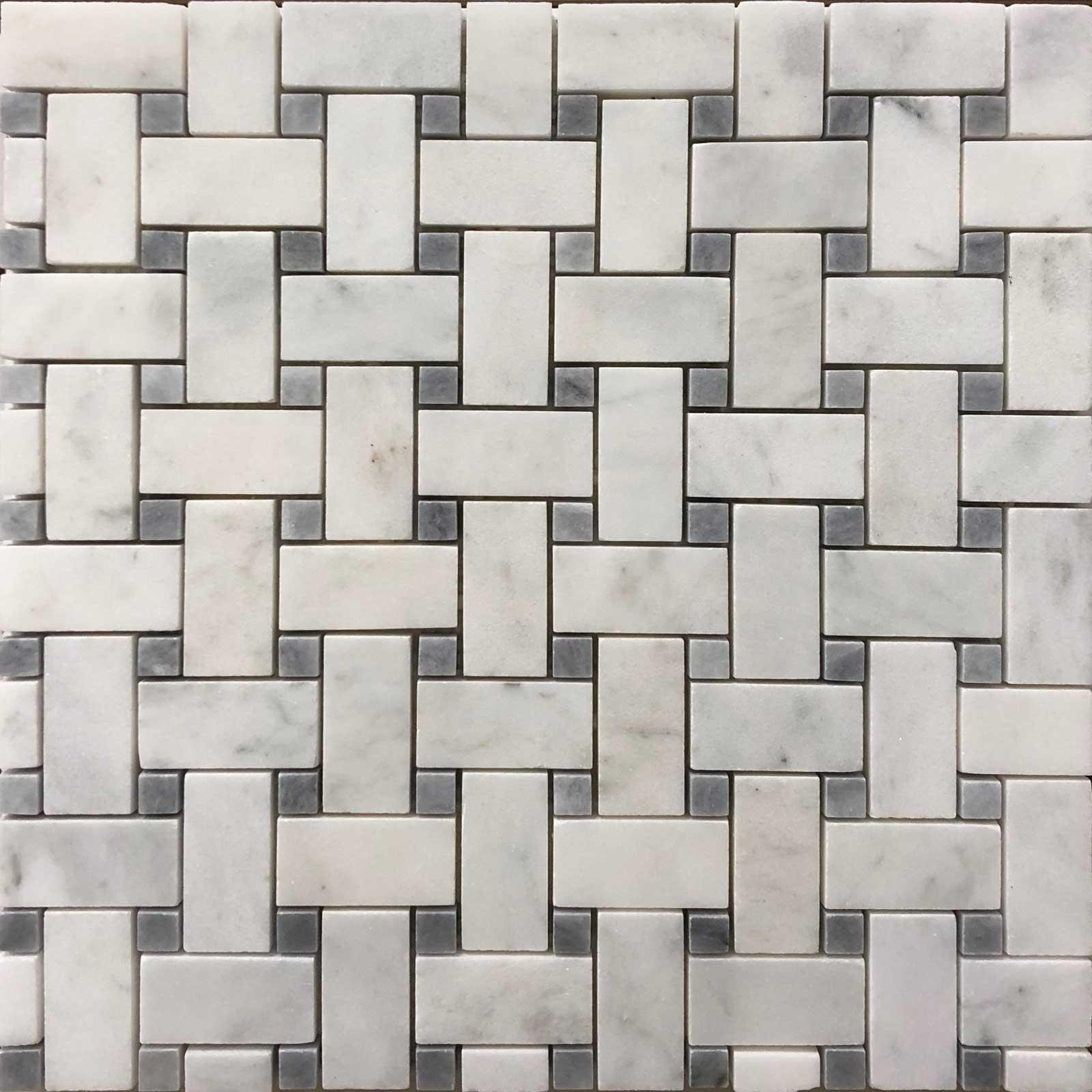 Basketweave Imperial Carrara GD  Carrara Tile
