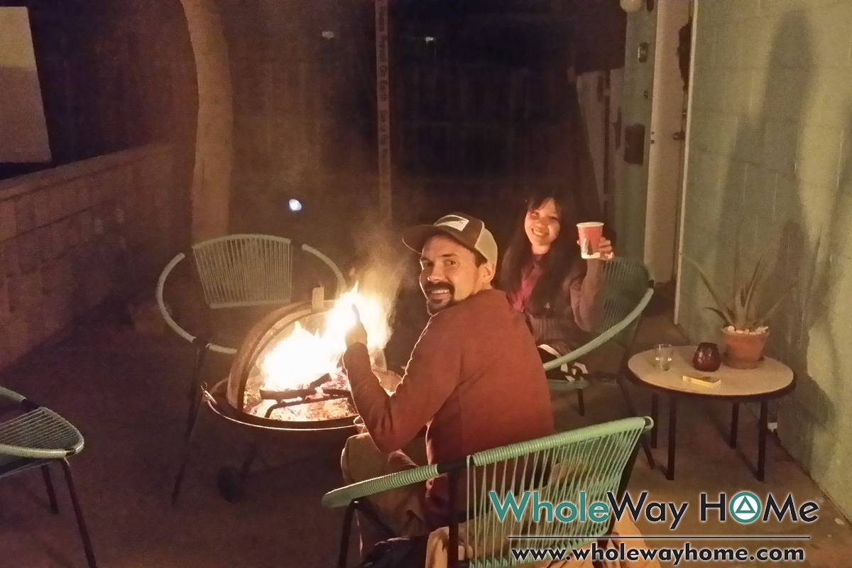 WholeWay Home 12 making new friends around the firepit