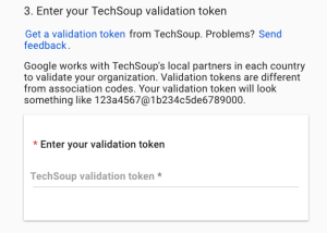 how to apply for the google ad grant validation token