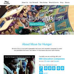 move For Hunger website thumbnail