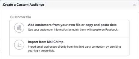 facebook retargeting customer file