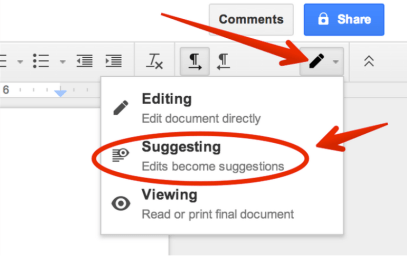 Suggested editing Docs