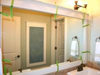 bathroom framed mirrors designs