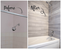 before and after diy bathroom remodel by remodelaholich