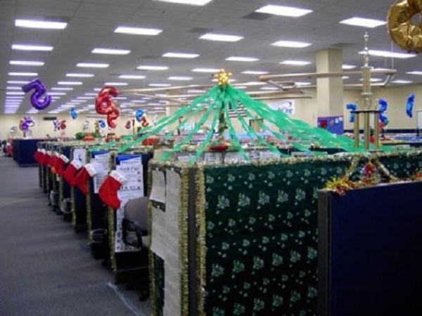 office cubicle christmas decoration ideas