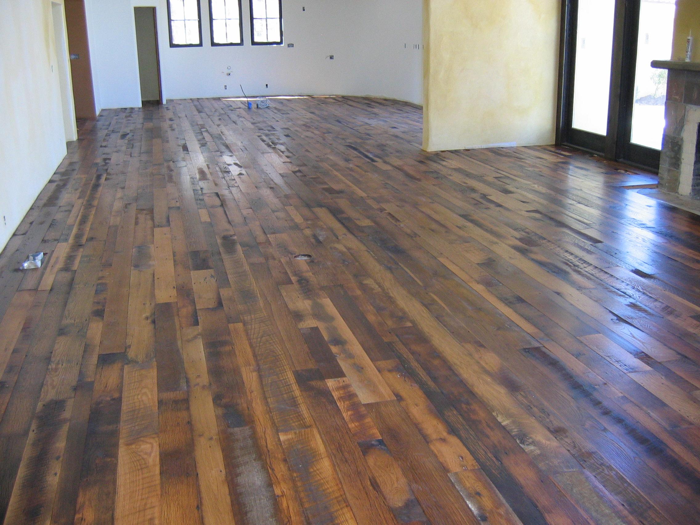 Distressed Wood Flooring Exotic Flooring Idea to Add