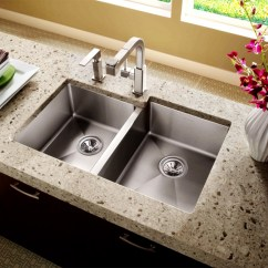 Kitchen Sink Undermount High Top Sets Double Bowl