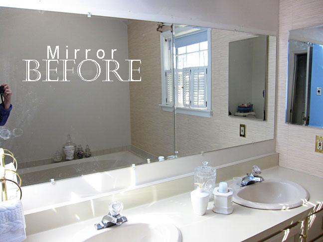 frame bathroom mirror without glue