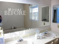 frame bathroom mirror without glue