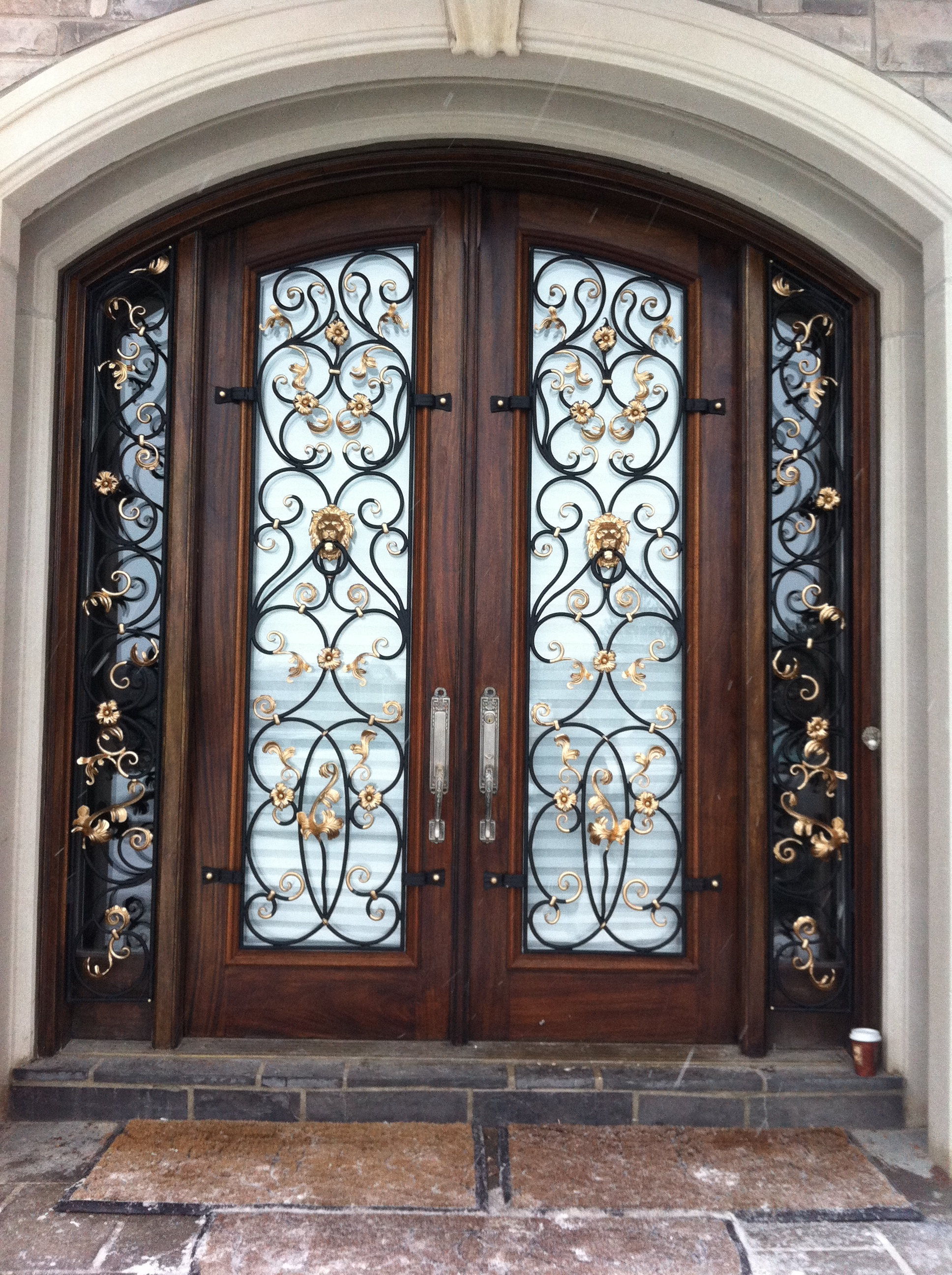 vintage Wrought iron doors