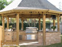 Outdoor Gazebo Design with Comfortable Furniture ...