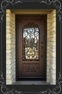 wrought iron doors cost