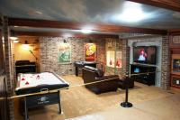 inexpensive unfinished basement ideas