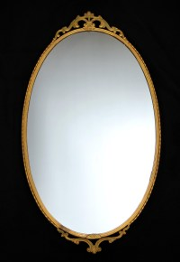 oval mirror tray