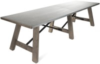 zinc top dining table outdoor - Zinc Top Dining Table ...
