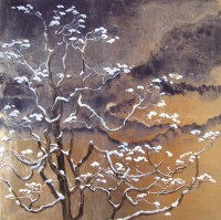 Gold Leaf Maine Painting